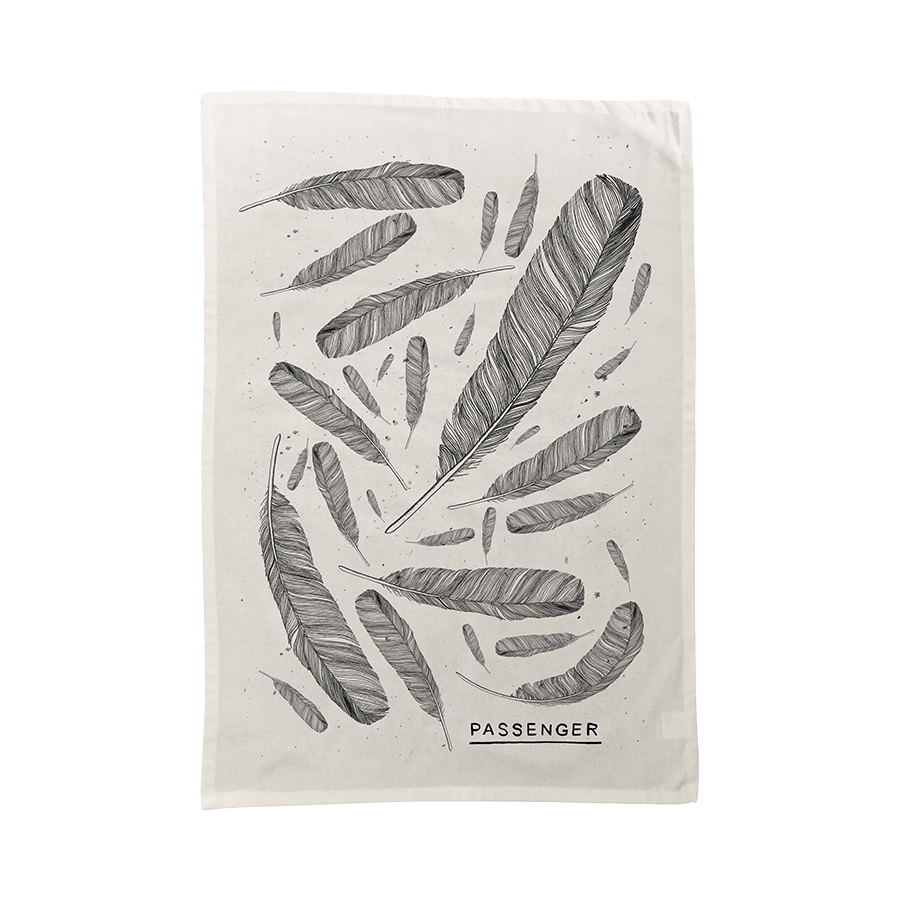 Passenger | Young as the Morning Old as the Sea | Feather Tea Towel