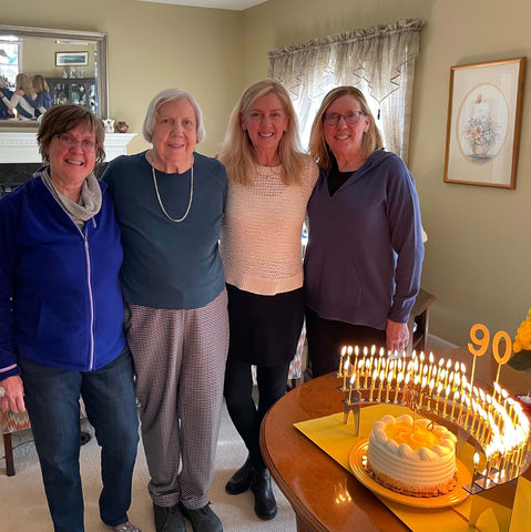 90th Birthday Ideas Celebration Stadium with mother and daughters