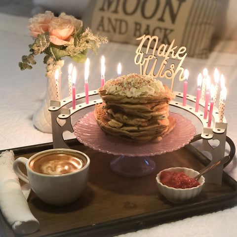 Birthday breakfast in bed with small-size Celebration Stadium
