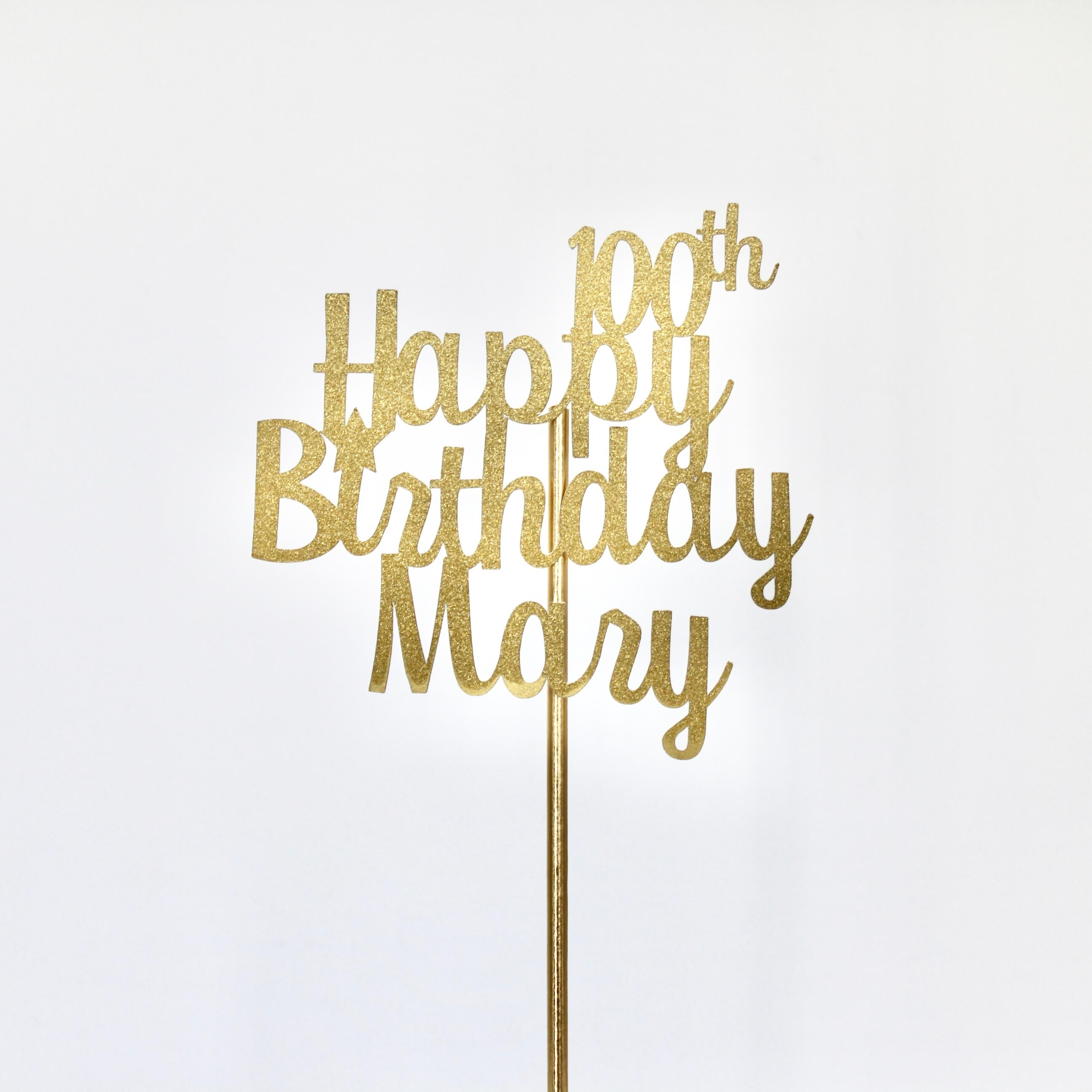 100th Birthday Cake Topper Party Decoration