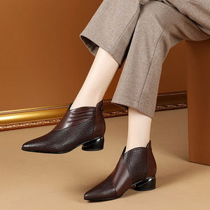 Pointed Toe Low Cut Boot