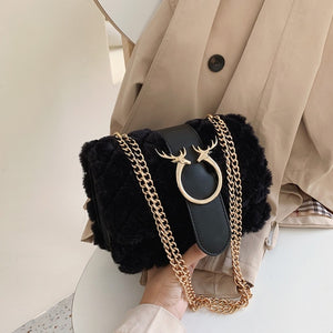 Double Strap Plush Bag