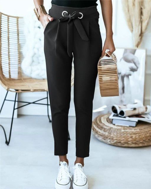 Tied Office Lady Pants