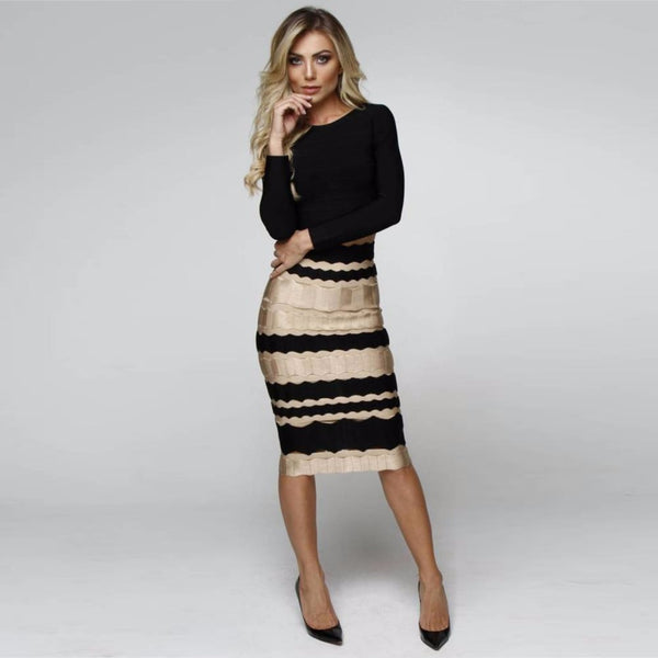 Designer Stripes Skirt