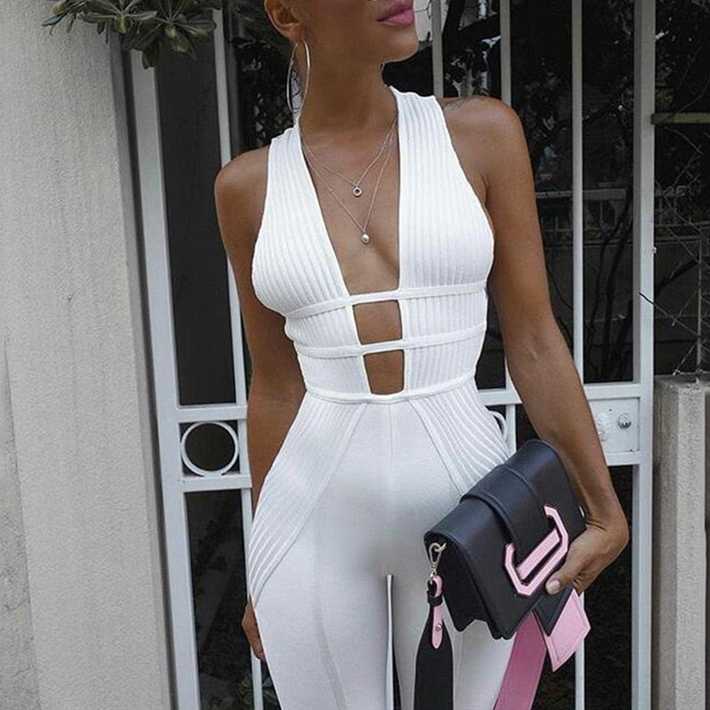 V-Neck Jumpsuit  29.00 Fashion Play