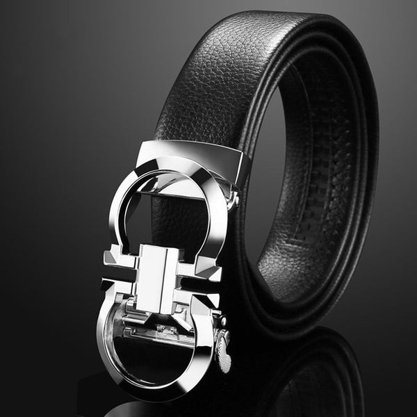Auto Buckle Genuine Leather Belt