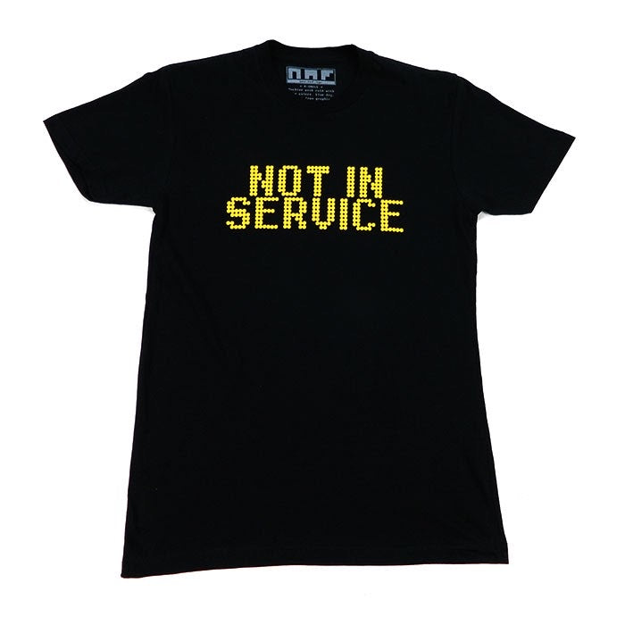 Not In Service T - Black/Amber - NAF