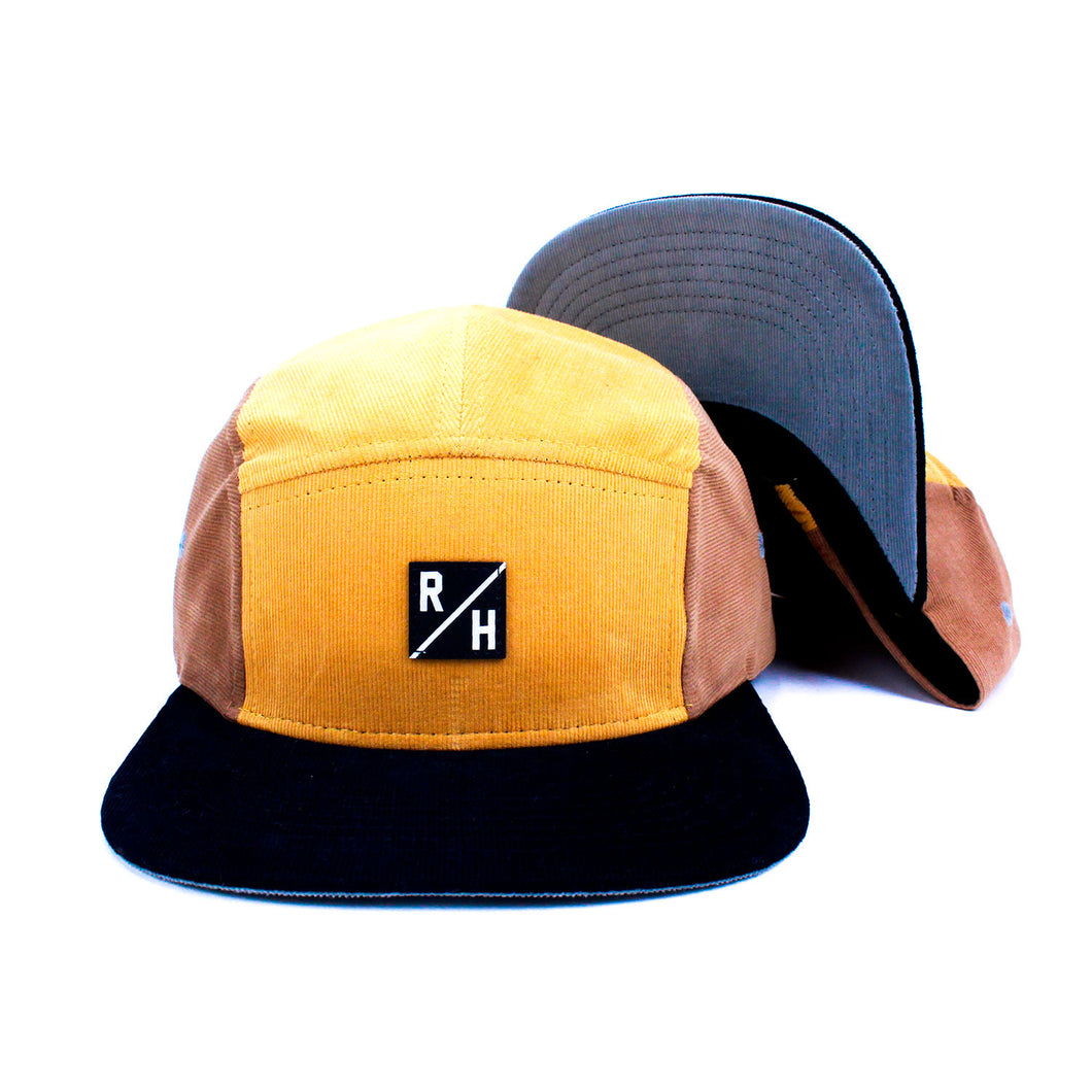 R/H 5 Panel Camp Cap - British/Tan