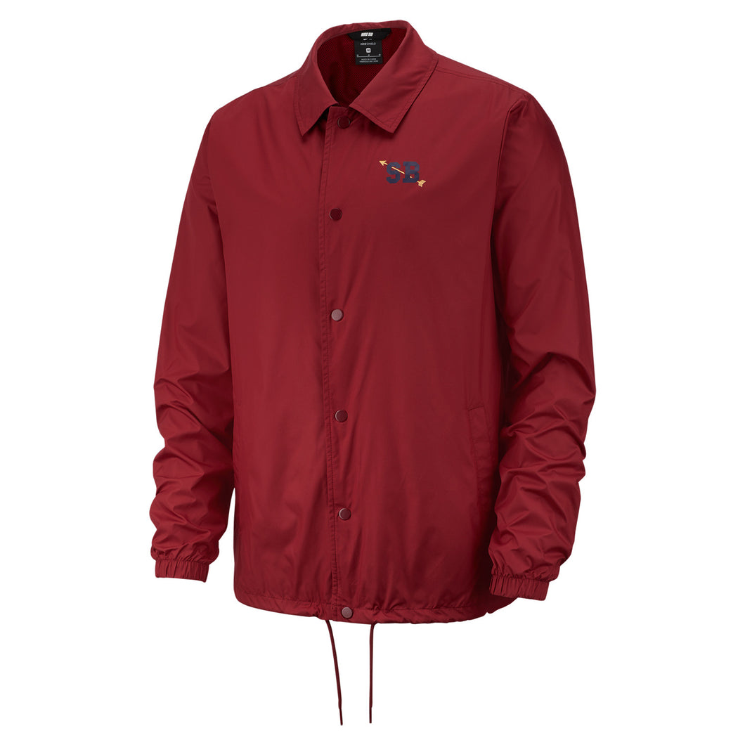 Nike SB Shield Coaches Jacket Burgundy