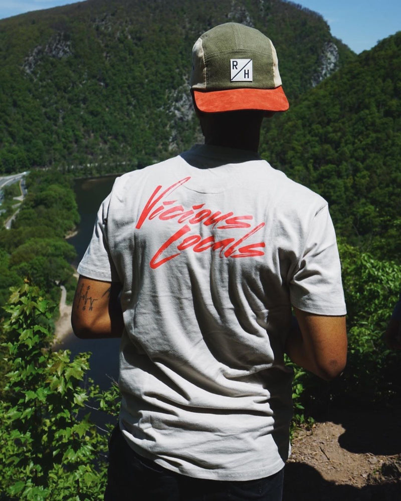 Vicious Locals T Shirt - Infrared/Grey - RHC