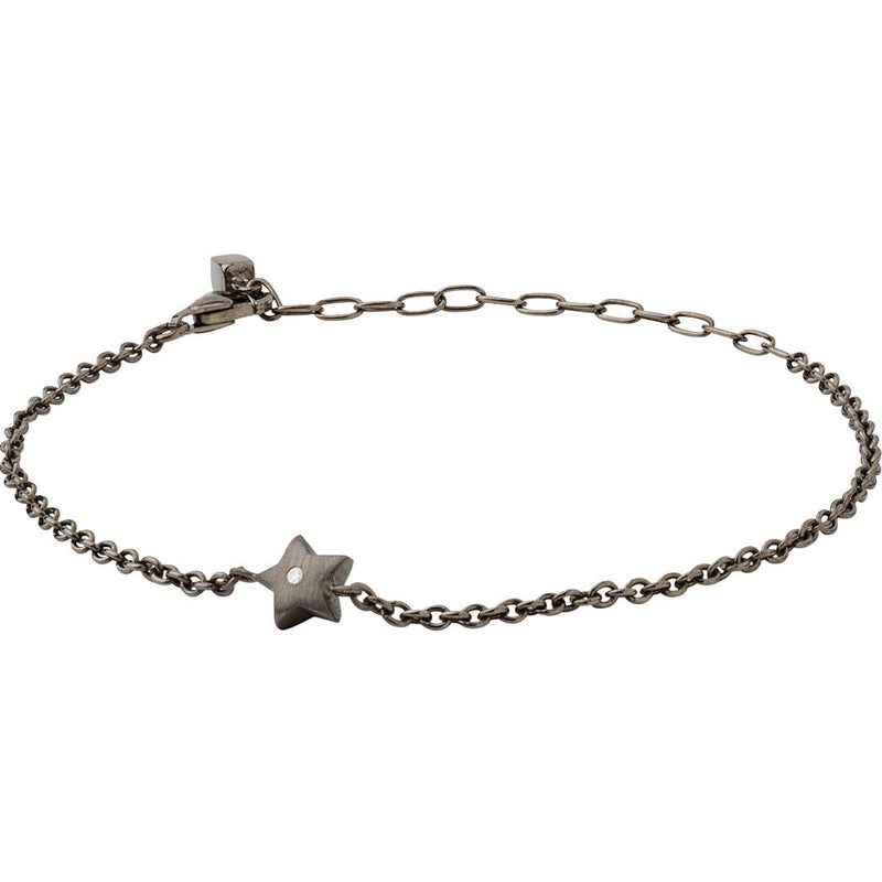 Mix 523 sort rhodineret sterling sølv armbånd
