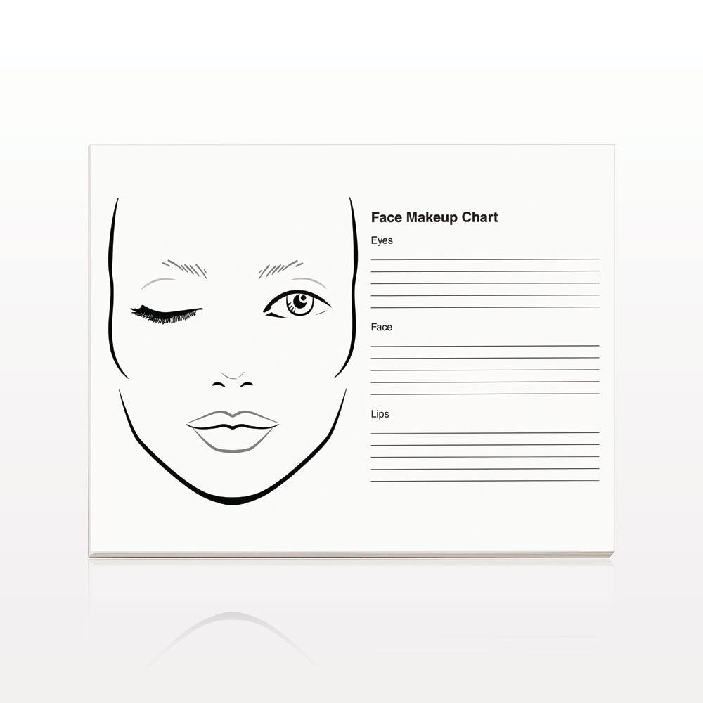 Face Makeup Chart Pad