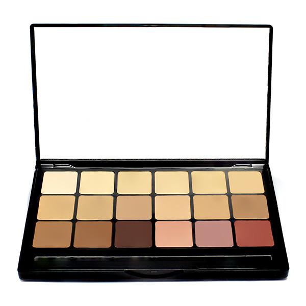 Hi-Def Glamour Crème 18 Color Foundation Super Palette - Cool Shades
