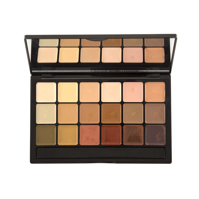 Hi-Def Glamour Crème 18 Color Foundation Super Palette - Corrector Shades