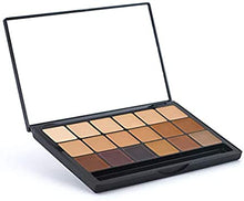 Load image into Gallery viewer, Hi-Def Glamour Crème 18 Color Foundation Super Palette - Neutral Shades