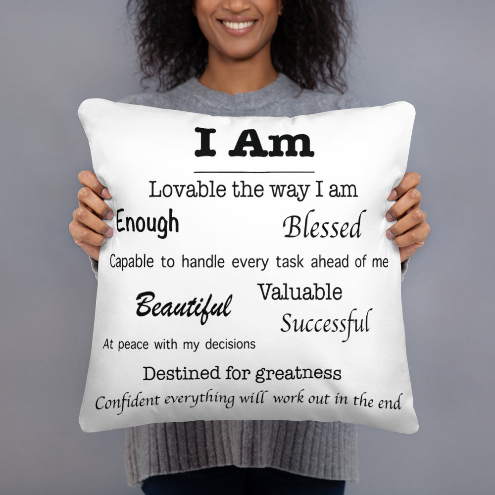 Affirmations Pillow - 5 color options
