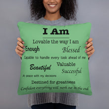 Load image into Gallery viewer, Affirmations Pillow - 5 color options