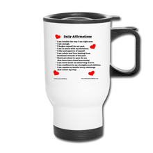 Load image into Gallery viewer, Daily Affirmations Travel Mug - white