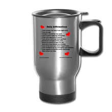 Load image into Gallery viewer, Daily Affirmations Travel Mug - silver