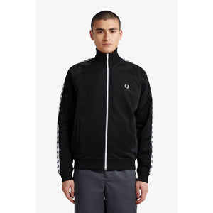 FRED PERRY TRACK SWEATSHIRT - Sort/Hvid