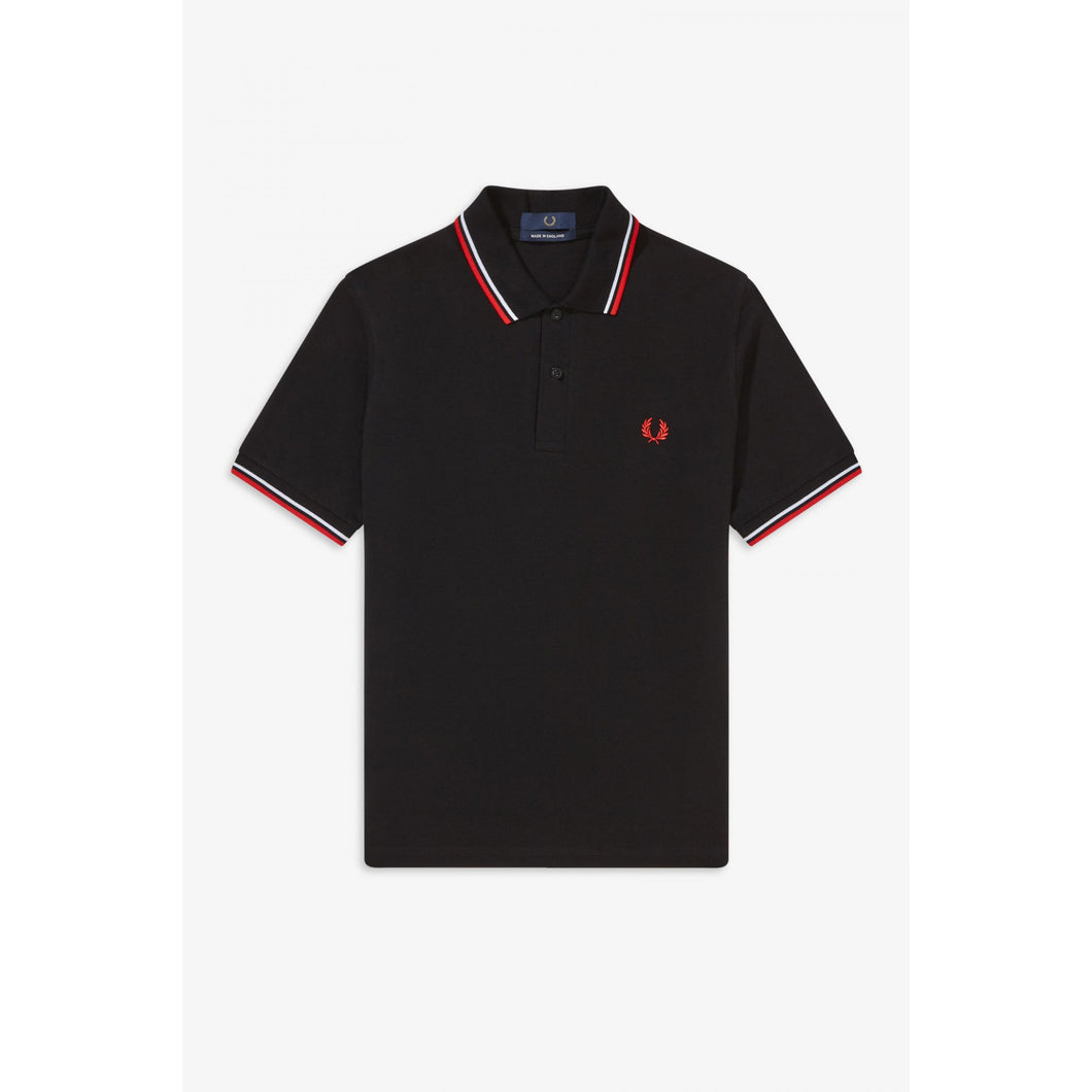 FRED PERRY POLO - Navy/White/Red