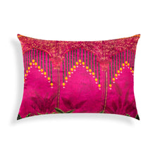 Load image into Gallery viewer, Anarkali LED Magenta Cushion Cover