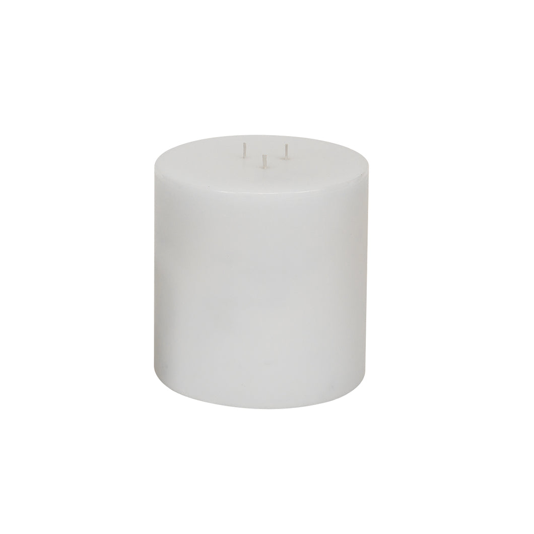 White Pillar Candle 6
