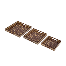 Load image into Gallery viewer, Avyay Serving Tray Set of 3