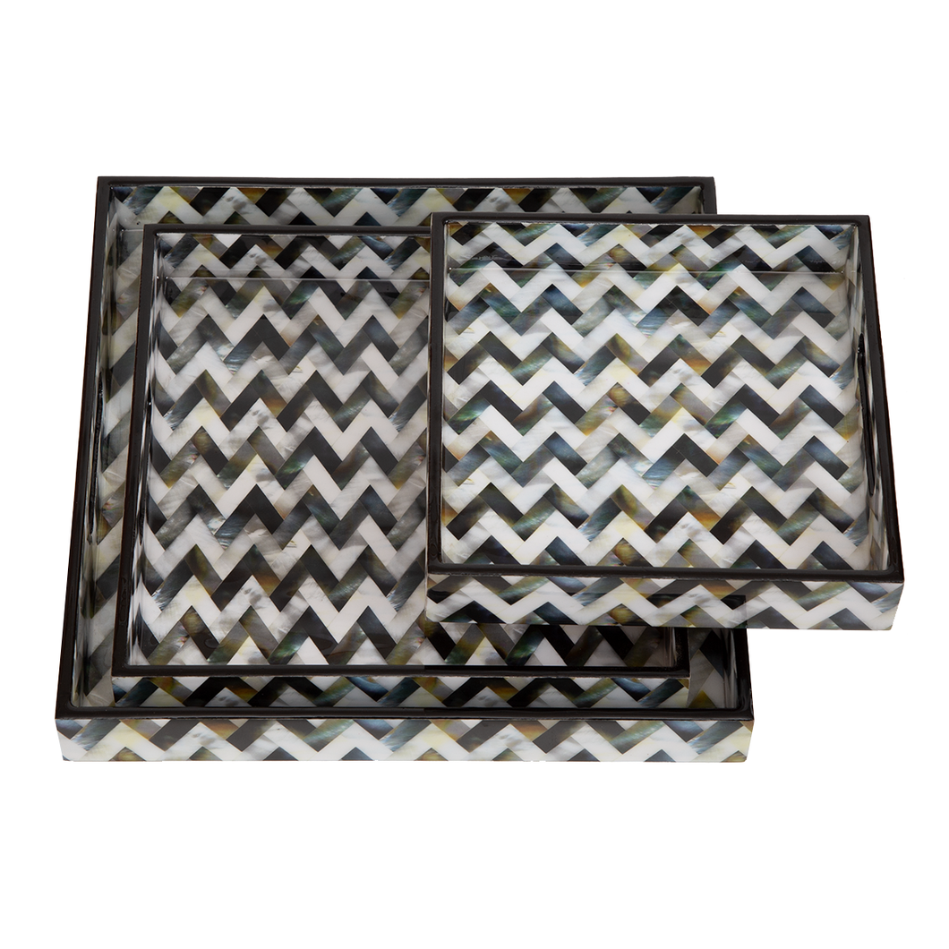 Zinnia Serving Tray Set of 3
