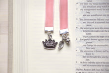Load image into Gallery viewer, Handcrafted Velvet Bookmark With Silver Plated Charm