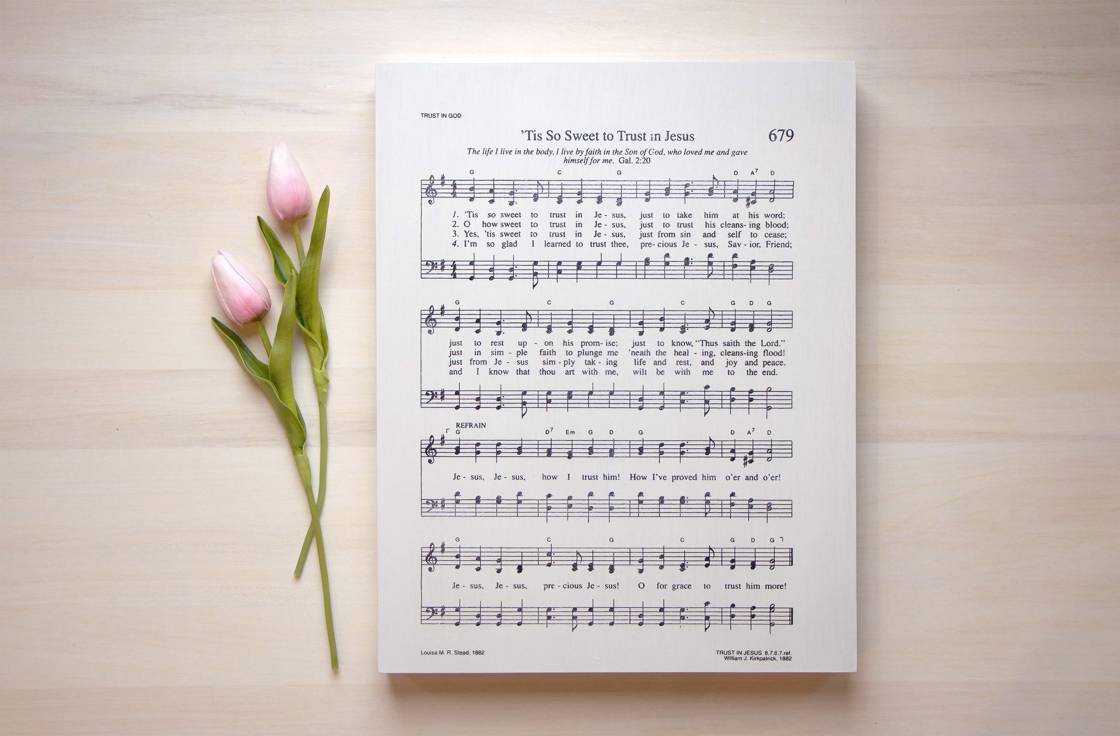 Hymn Art, Tis So Sweet To Trust In Jesus