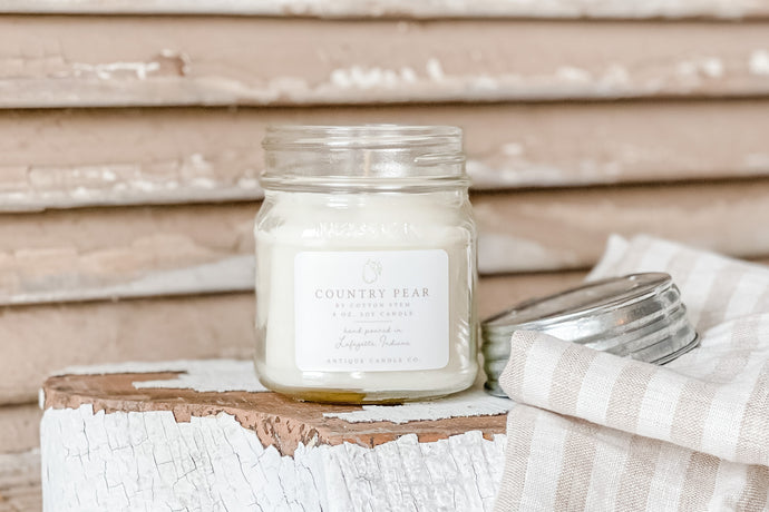 Antique Candle Company Country Pear from Live Oak Nest www.liveoaknest.com