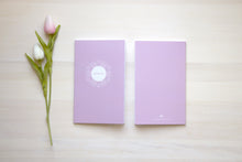 Load image into Gallery viewer, War Binder / Faith Journal Starter Kit: Striped Pink Suede
