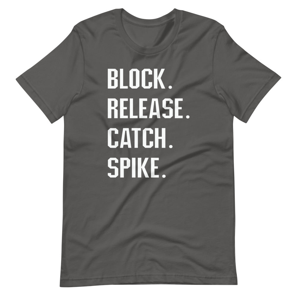 Block, Release, Catch, Spike