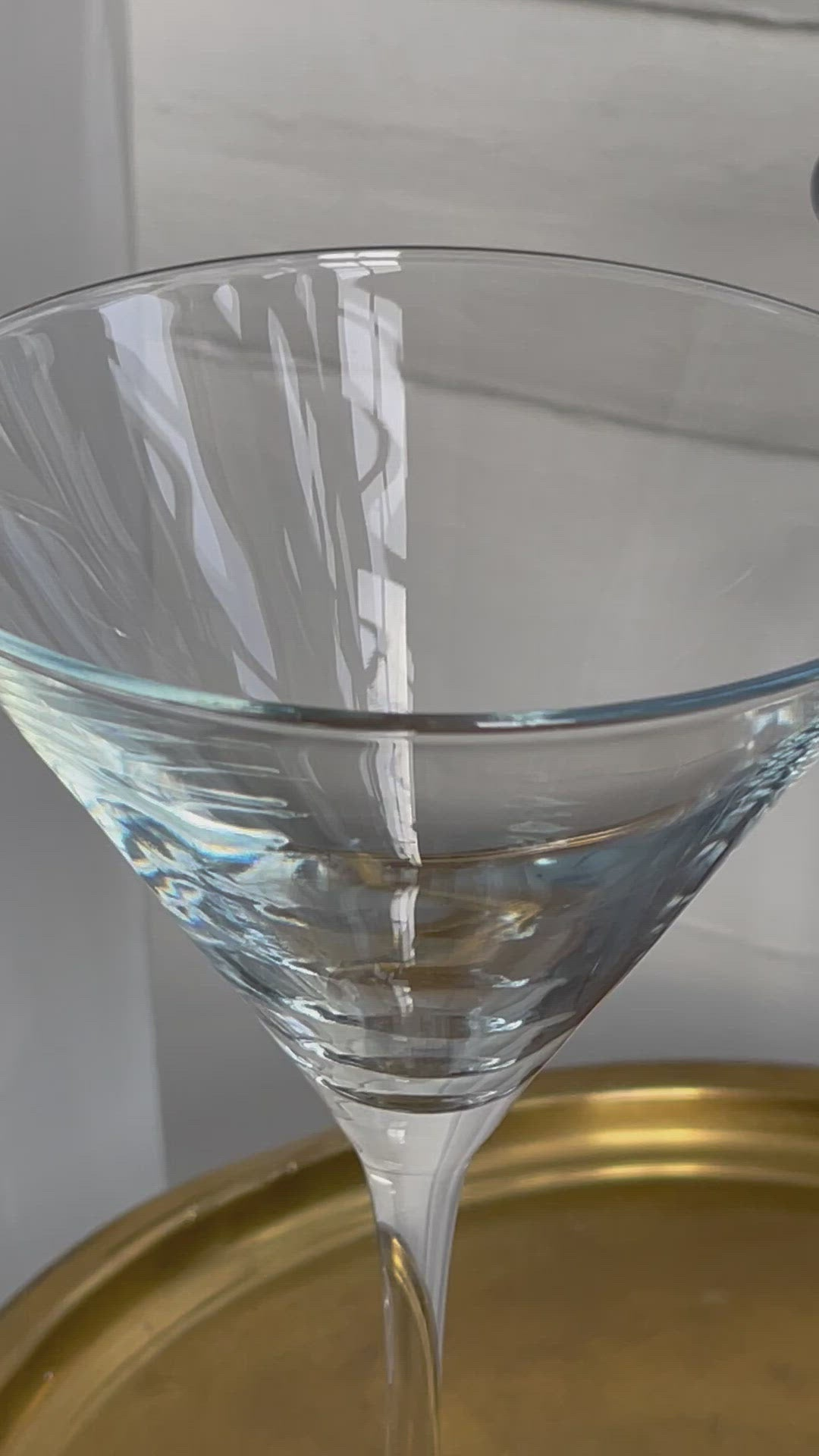 mod, pair of crystal martini glasses