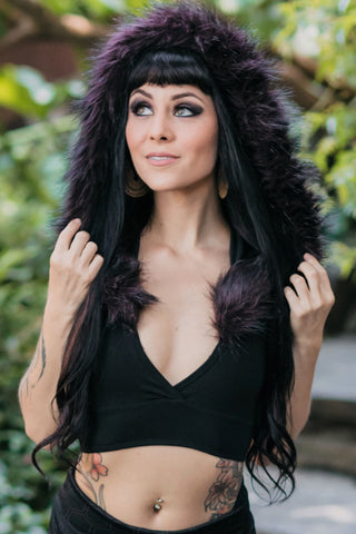 Wal Fur Lined Hooded Top