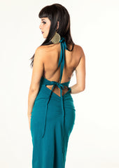 Shan Royal Hooded Dress - Teal