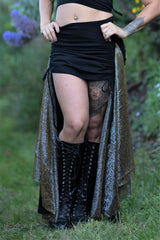 Royal Skirt - Black with Black Lace