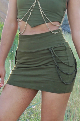 Tube Skirt - Olive Green