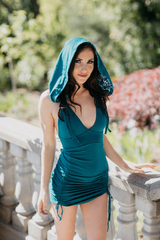 Shan Hooded Dress - Teal