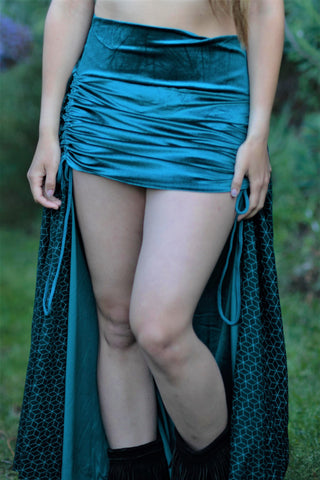 Royal Skirt - Teal Velvet