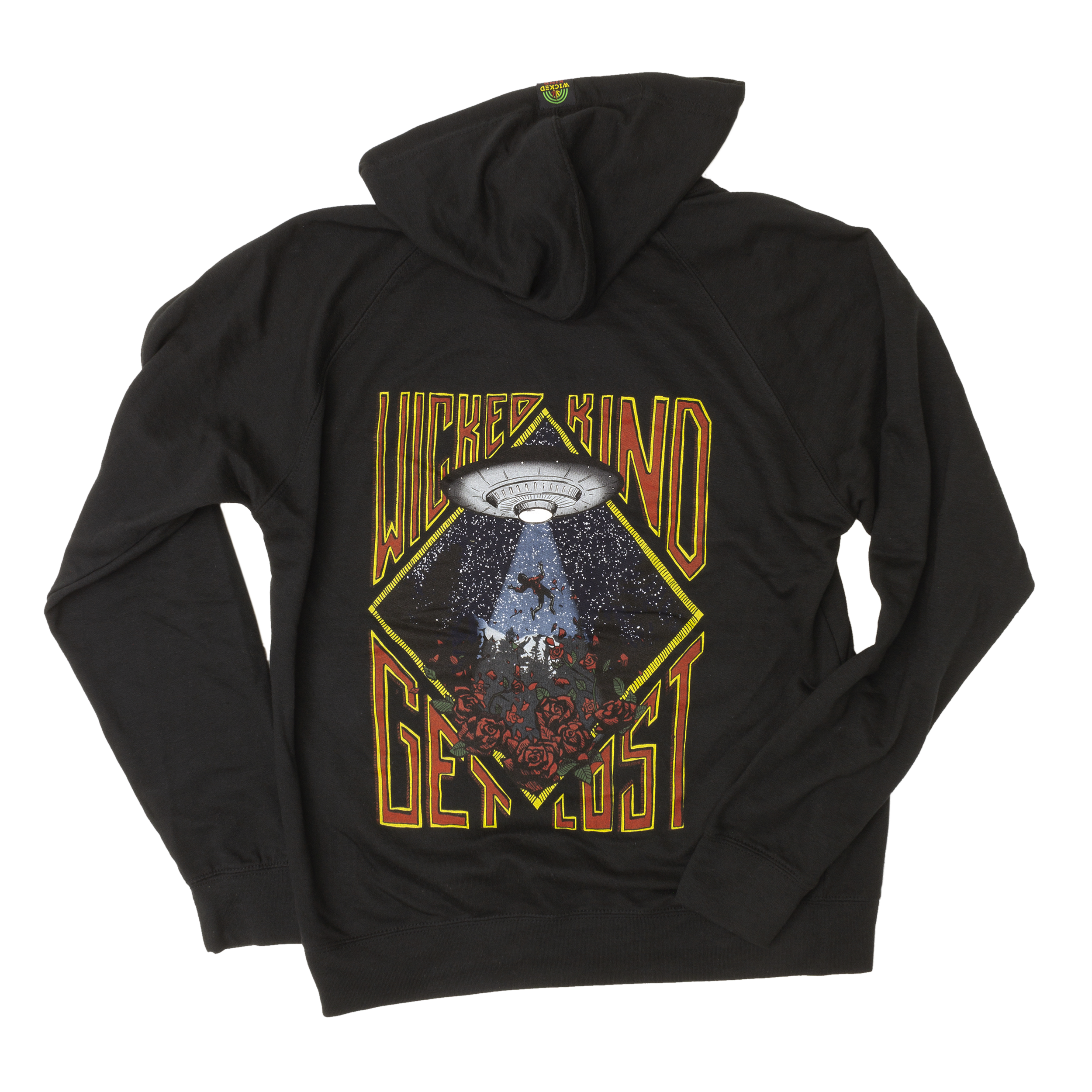 Get Lost Hand Drawn Black Hoodie