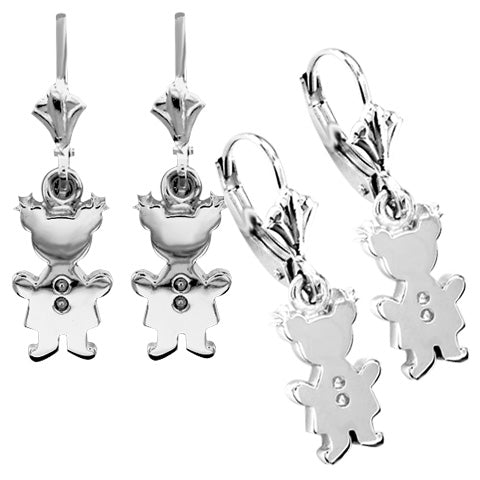 earring girls silver