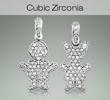 Sterling Silver Kids with Cubic Zirconia