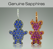 Sterling Silver Kids with Genuine Sapphires