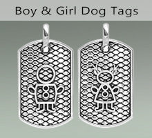 Sziro Kids Dog Tags for Mom