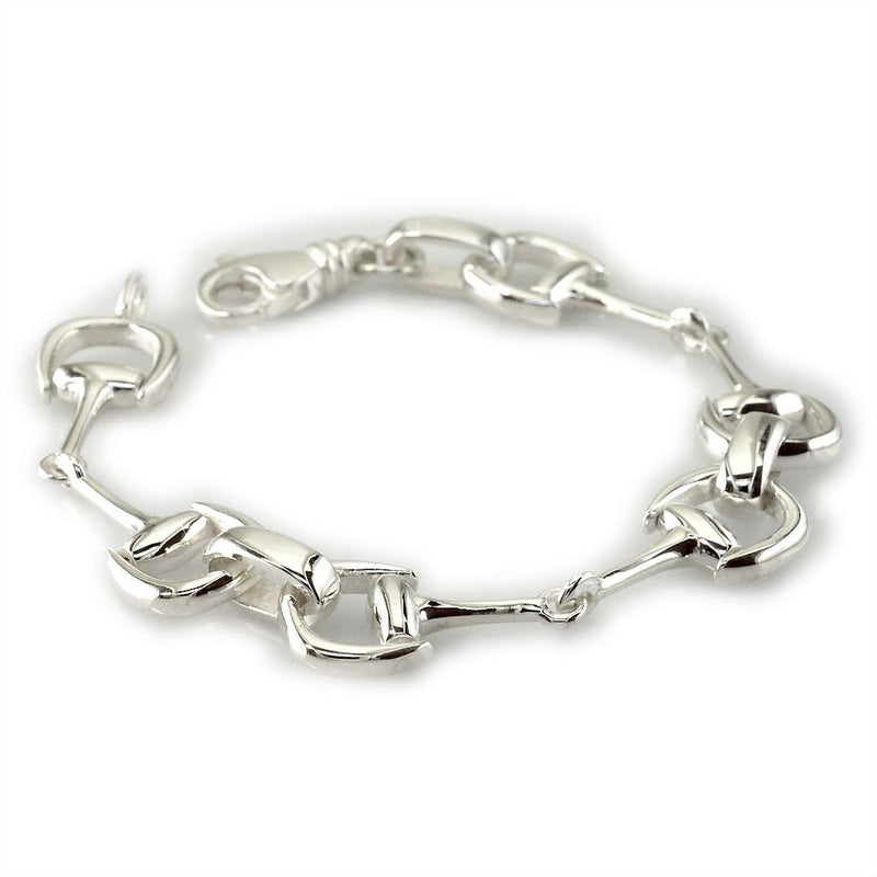 Horsebit Links Bracelet in 14k White Gold