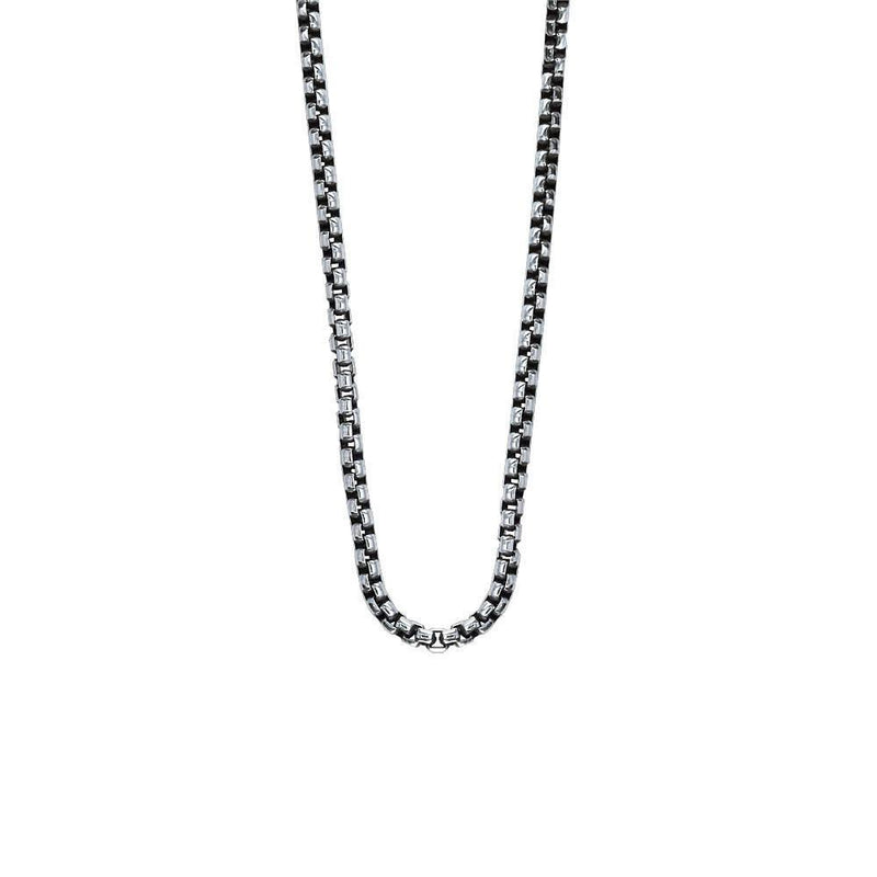 Sterling Silver Box Chain, 3.25mm Wide Approx., Available in 20, 22, and 24 Inches Long