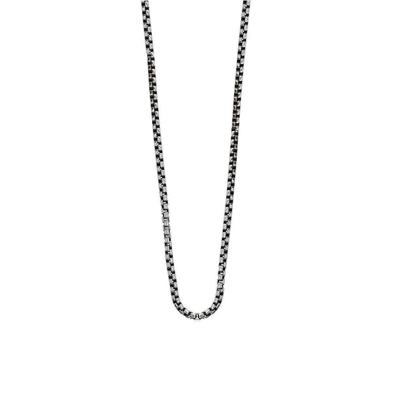 Sterling Silver Box Chain, 2mm Wide Approx., Available in 20, 22, and 24 Inches Long