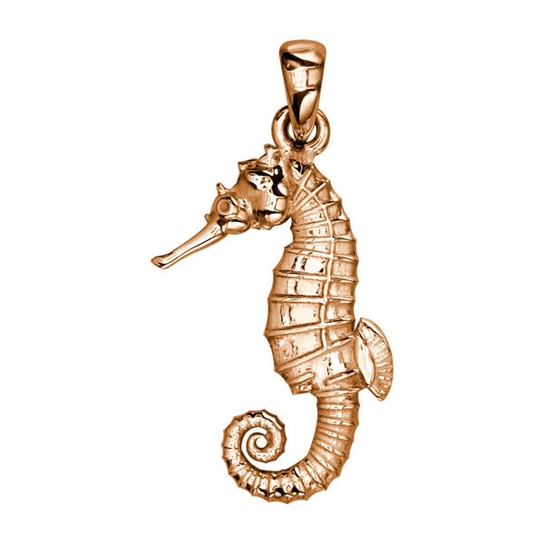 Medium Seahorse Charm in 14k Pink Gold